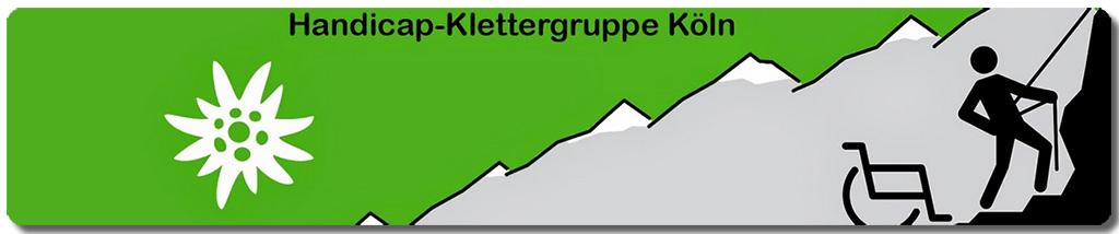 Handicap Klettergruppe Köln Banner