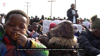 John Kranert TV - Demonstranten der schwarzen Gemeinde in Moria
